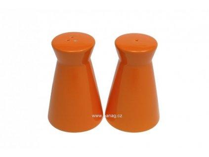 Porcelánová solnička & kořenka - oranžová  - Maxwell&Williams