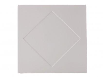 Porcelánový čtvercový talíř Metrix - diamant 30,5 x 30,5 cm - Maxwell&Williams