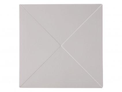 Porcelánový čtvercový talíř Metrix - trojúhelník 30,5 x 30,5 cm - Maxwell&Williams