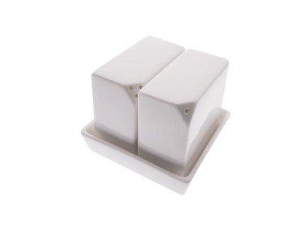 Slánka a pepřenka hranatá set - WHITE BASICS - Maxwell&Williams