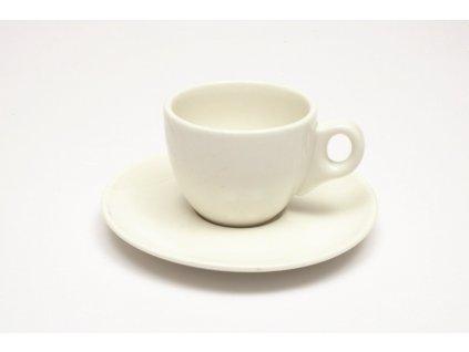 Šálek na espresso 80 ml s podšálkem bílý - WHITE BASICS - Maxwell&Williams