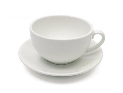 Šálek na na capuccino 320 ml s podšálkem bílý - WHITE BASICS - Maxwell&Williams