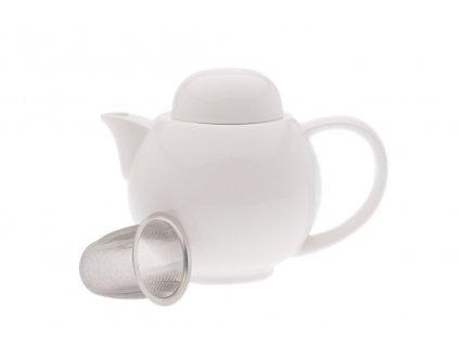 Konvice na čaj 400 ml bílá se sítkem - WHITE BASICS - Maxwell&Williams