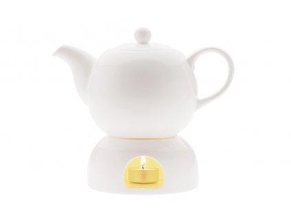 Konvice na čaj 1l s ohříváčkem bílá - WHITE BASICS - Maxwell&Williams