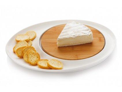 Servírovací talíř na sýr kulatý - WHITE BASICS - Maxwell&Williams