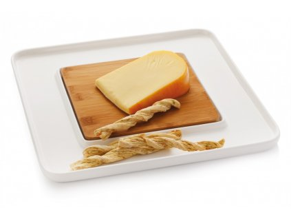Servírovací talíř na sýr hranatý - WHITE BASICS - Maxwell&Williams