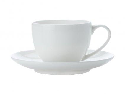 Porcelánový šálek s podšálkem  na Espresso 100 ml Demi - Cashmere - Maxwell&Williams