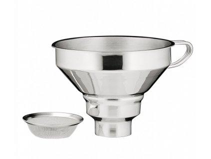 Nerezový trychtýř na marmeládu se sítkem - Küchenprofi - 0920152800