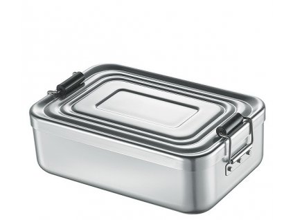 Svačinový box velký, stříbrný