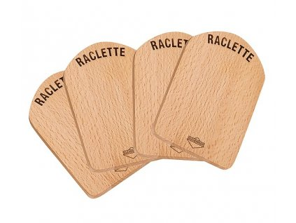 Raclette prkénko dřevěné set 4 ks - Küchenprofi - 1748001000