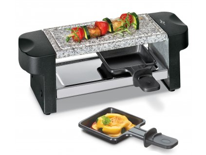 Elektrický Raclette gril Hot Stone Duo černý pro 2 osoby - Küchenprofi - 1780000000