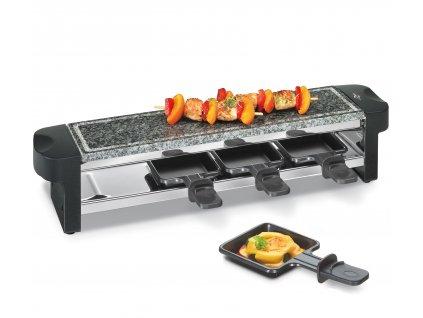 Elektrický gril Raclette Hot Stone Quattro černý pro 4 osoby - Küchenprofi - 1781000000