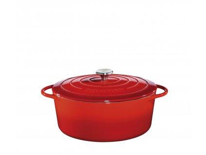 Litinový hrnec oválný PROVENCE červený - 31 cm - Küchenprofi - 0402001431