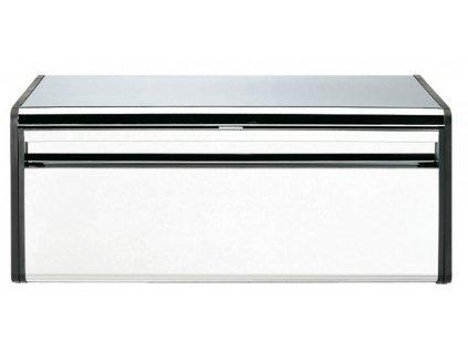 Chlebník Fall Front , Lesklá ocel/Černé boky 19 x 46,3 x 25 cm