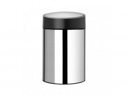 397127 Odpadkový koš SLide bin 5 l od Brabantia lesklá ocel černé víko