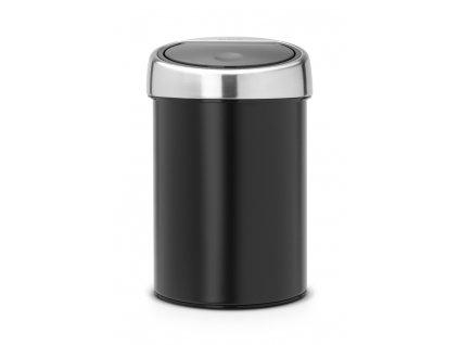 Koš Touch Bin® - 3 L , Matná černá/Mat víko