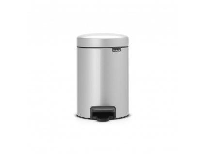 Pedálový koš newIcon - 3 L, Metalická šedá