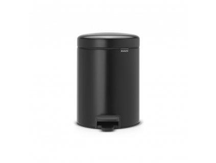 Pedálový koš newIcon - 5 L, Matná černá