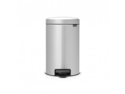 Pedálový koš newIcon - 12 L, Metalická šedá