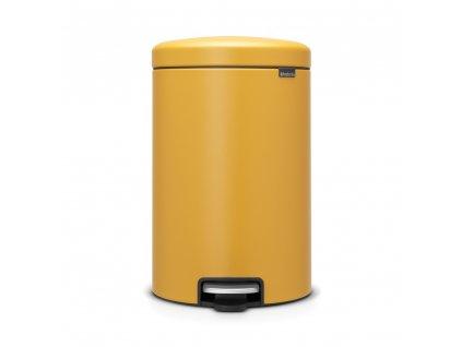 Pedálový koš newIcon - 20 L, Minerální hořčičná žlutá