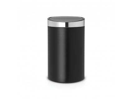 Koš Touch Bin - 40 L , Matná černá / FPP víko
