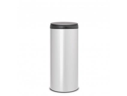 Koš FlipBin - 30 L, Metalická šedá/ šedé víko