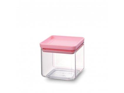 Dóza Square 0,7 L Růžové víko