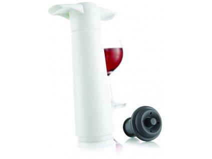 Vinná vakuová pumpa bílá + 2 uzávěry