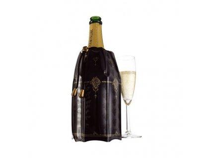 Chladící návlek na šampaňské černozlatý