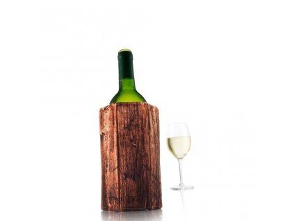 Chladící návlek na víno dřevo