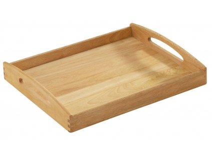 Dřevěný servírovací tác/podnos hranatý 44 x 36 x 7 cm
