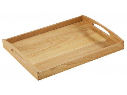 Dřevěný servírovací tác/podnos hranatý 53 x 41 x 7 cm