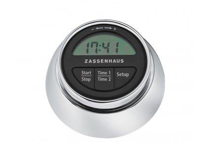 Digitální minutovník/časovač Speed chrom - Zassenhaus - 072211