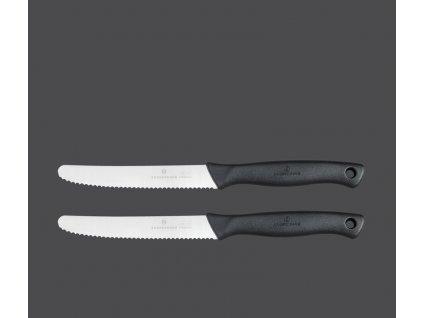 Steakový nůž Sada 2 ks černý