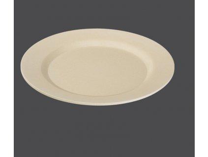 Bambusový talíř 25 cm, slonová kost