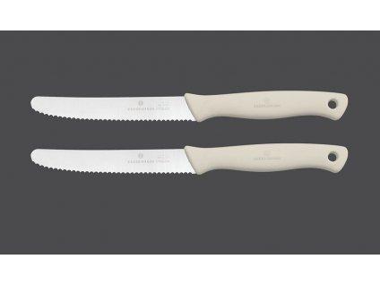 Snídaňový nůž, set 2 ks, krémová