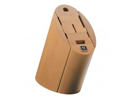 Blok na nože ovál - na 7 ks, buk