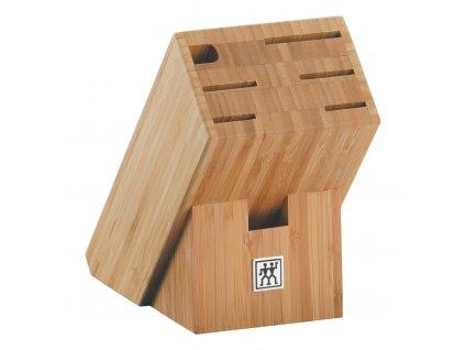 Blok na nože - na 7 ks, bambus