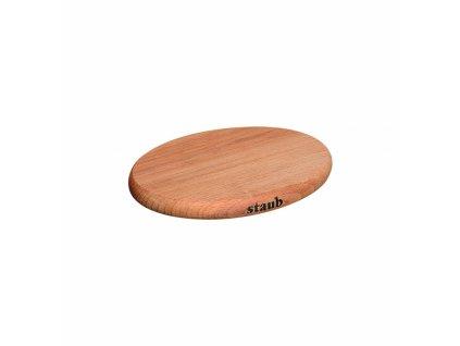 Dřevěná podložka pod hrnec s magnetickým jádrem 15 x 11 cm