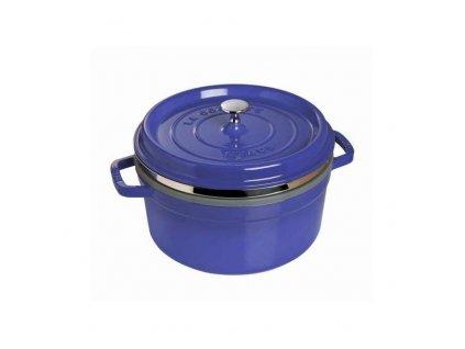 Hrnec kulatý s napařovací vložkou tmavě modrý La Cocotte 26 cm, 5,0 l
