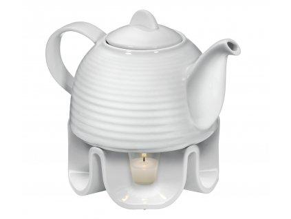 Porcelánová čajová konvice s ohříváčkem 1,1 l
