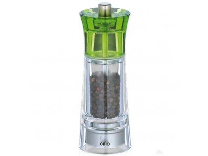 Akrylový mlýnek na pepř 14 cm Genova zelený