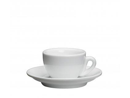Šálek s podšálkem ROMA bílý 50 ml