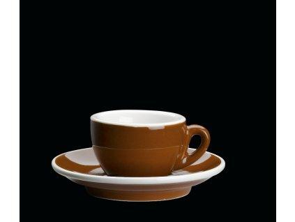 Porcelánový šálek na espresso ROMA hnědý 50 ml
