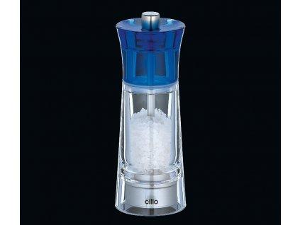 Mlýnek na sůl GENOVA modrý 14 cm