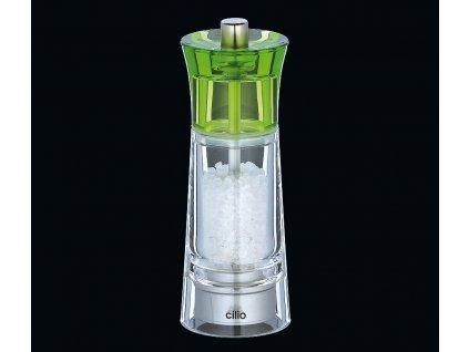 Mlýnek na sůl GENOVA zelený 14 cm