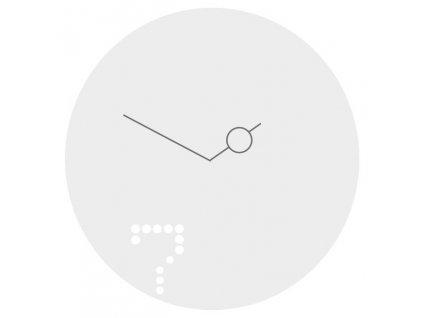 Designové hodiny Seven 40cm kov bílý lak