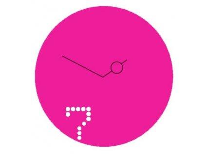Designové hodiny Seven 40cm starorůžový lak