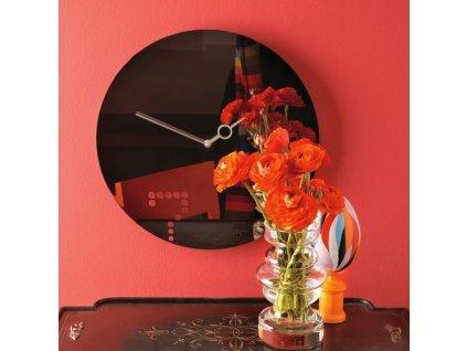 Designové hodiny Seven 40cm černý chrom