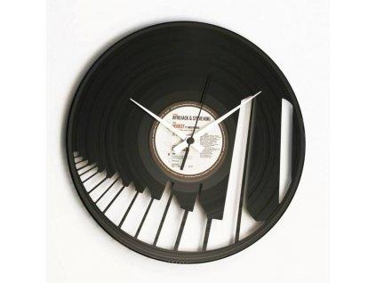 Designové nástěnné hodiny 082 Piano 30cm